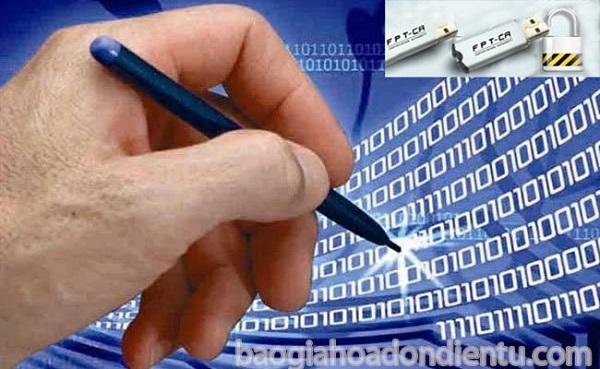 Chữ ký số (Token) thay thế cho chữ ký trên văn bản, tài liệu số