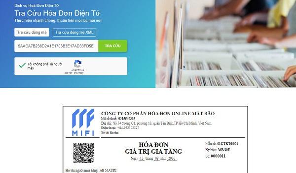 Kiểm tra hóa đơn điện tử thật hay giả tại MIFI