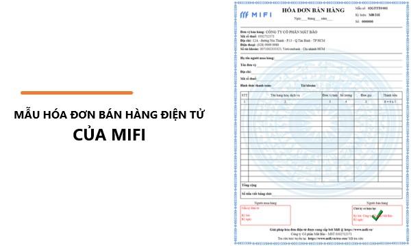 Mẫu hóa đơn bán hàng điện tử của MIFI