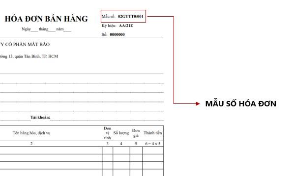 Mẫu số hóa đơn giúp phân loại hóa đơn điện tử