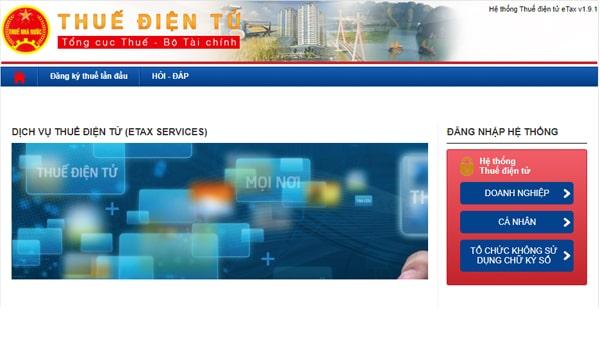 hoàn thuế điện tử eTax
